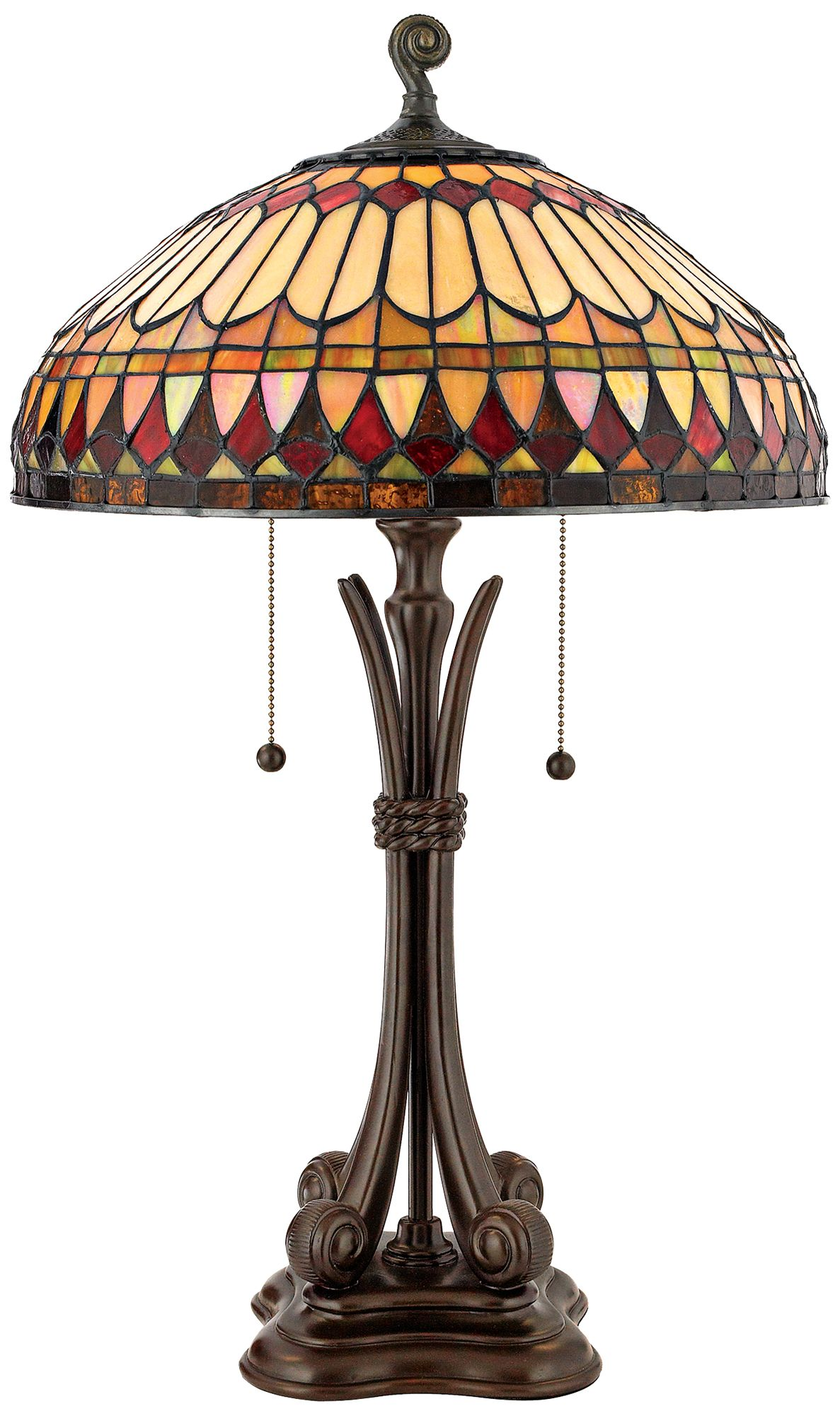 Western Place Tiffany Style Table Lamp