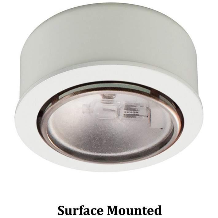 Wac Xenon 2 63 Wide Round White Button Under Cabinet Light 85306 Lamps Plus