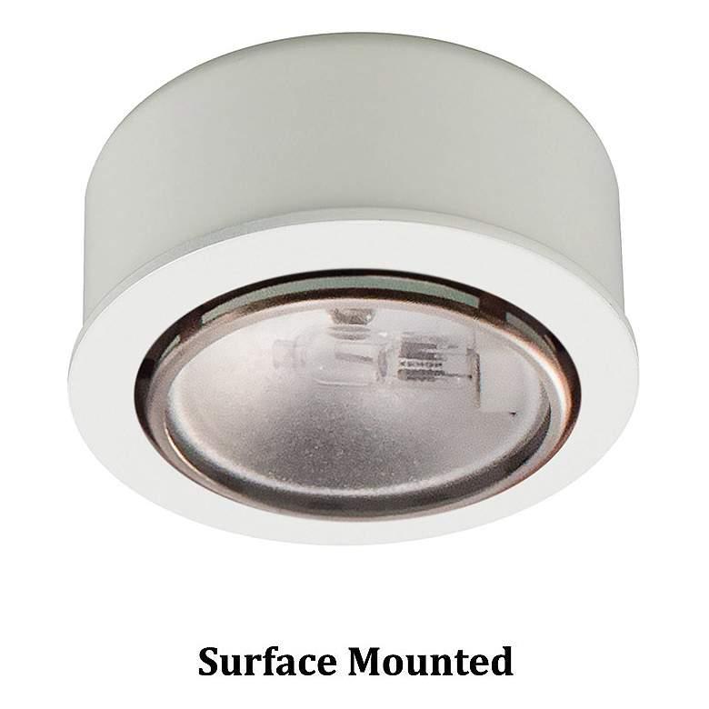 "WAC Xenon 2.63"" Wide Round White Button Under Cabinet Light"