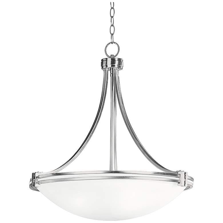 "Possini Euro Design Deco Nickel 24 1/4"" Wide Pendant Light"