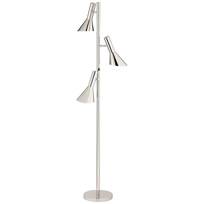 Wexley Chrome 3-Light Tree Floor Lamp