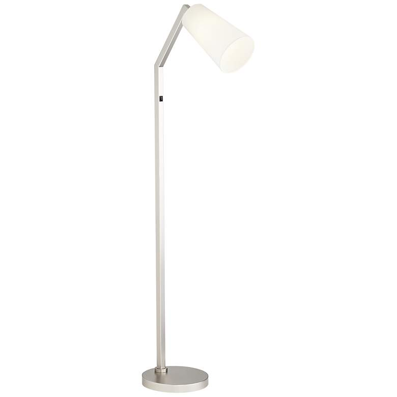 Simons Satin Nickel Floor Lamp