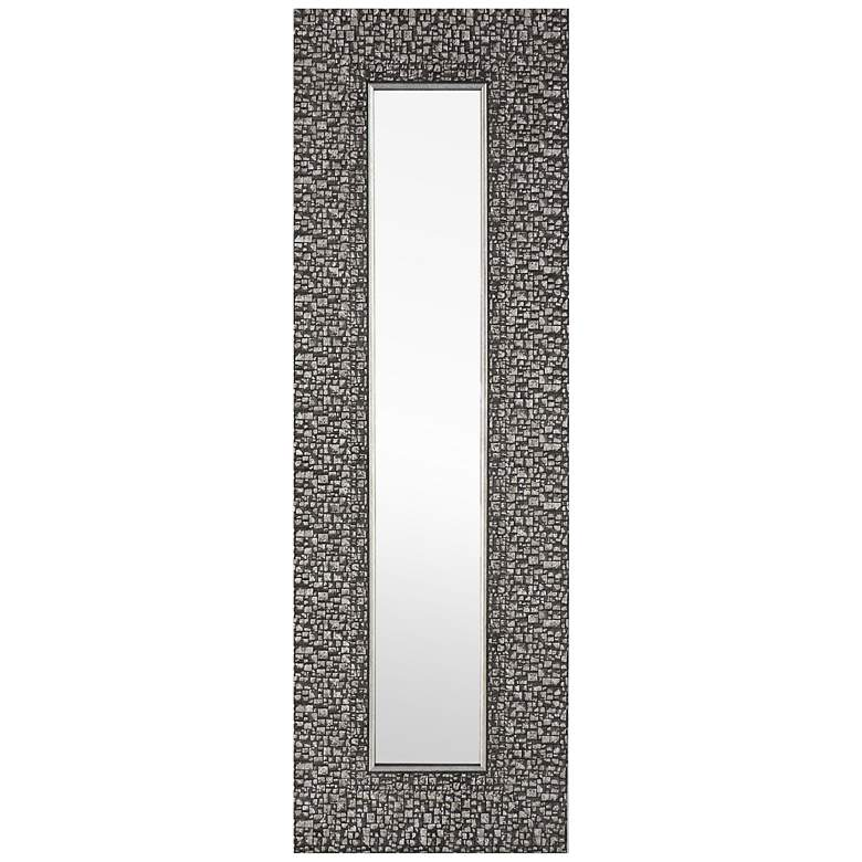"""Mosaic Silver 9 1/4"""" x 27 3/4"""" Accent Wall Mirrors Set of 3"""