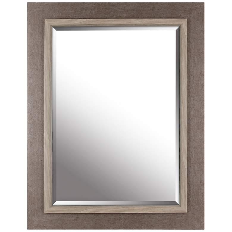 """Northwood Gray Wash 27 1/4"""" x 35 1/4"""" Wood Wall Mirror"""