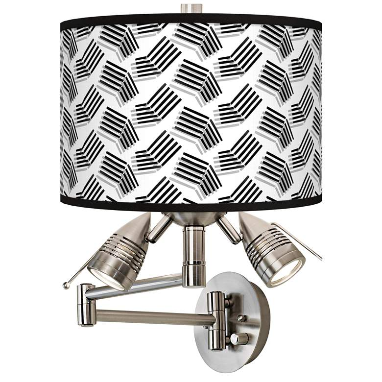 Abstract Angles Giclee Plug-In Swing Arm Wall Lamp