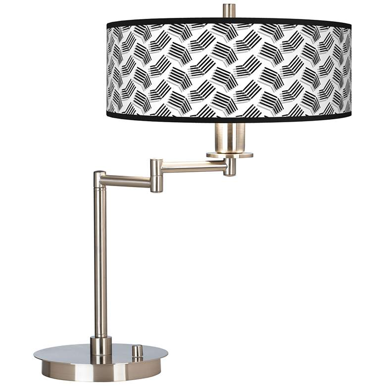 Abstract Angles Giclee Swing Arm LED Desk Lamp