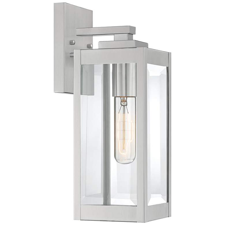 """Quoizel Westover 14 1/4"""" High Silver Outdoor Wall Light"""
