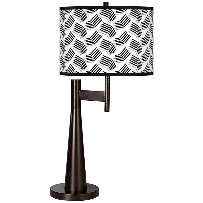 Abstract Angles Giclee Novo Table Lamp