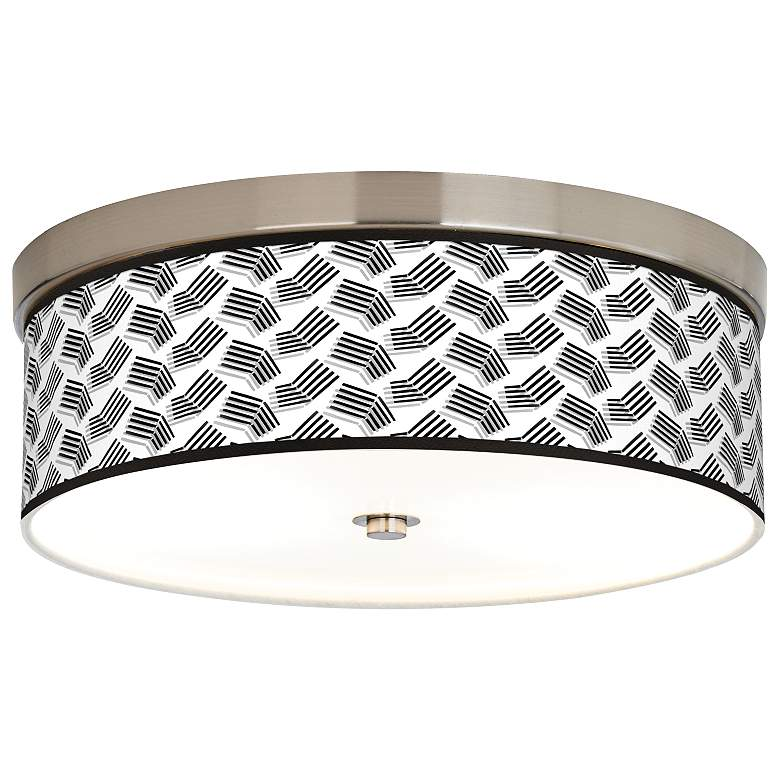 Abstract Angles Giclee Energy Efficient Ceiling Light