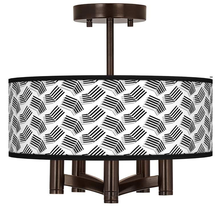 Abstract Angles Ava 5-Light Bronze Ceiling Light