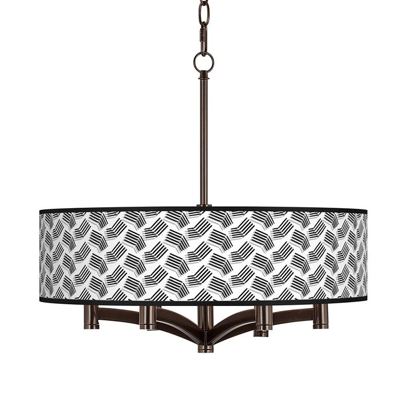 Abstract Angles Ava 6-Light Bronze Pendant Chandelier