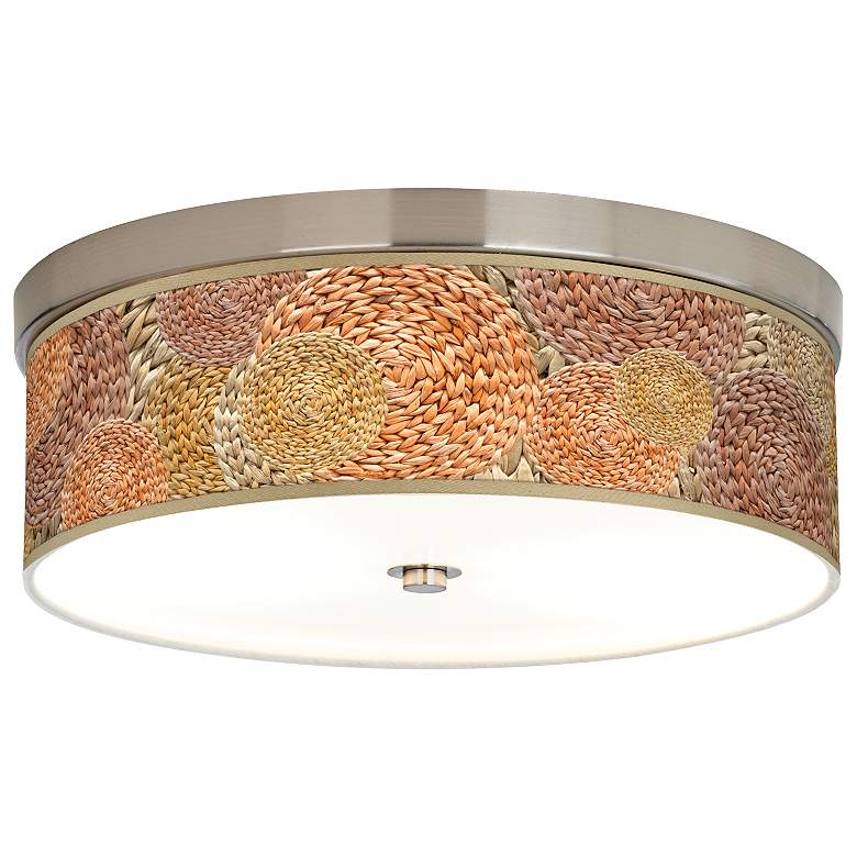 Rattan Circles Print Giclee Energy Efficient Ceiling Light