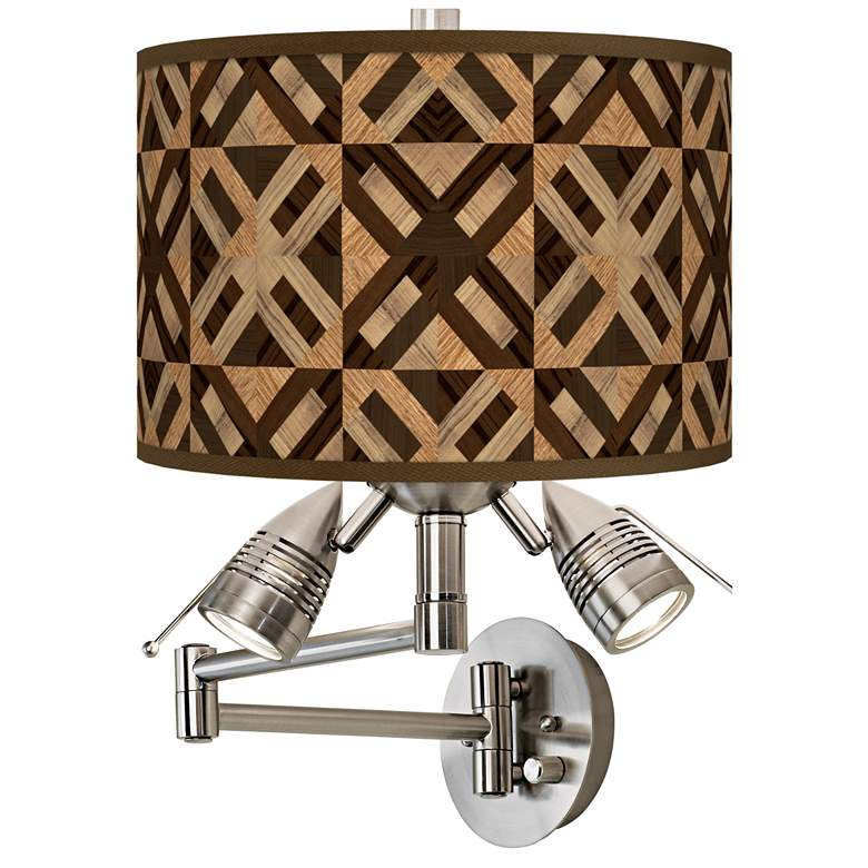 American Woodwork Giclee Plug-In Swing Arm Wall Lamp