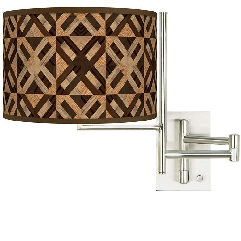Tempo American Woodwork Plug-in Swing Arm Wall Lamp