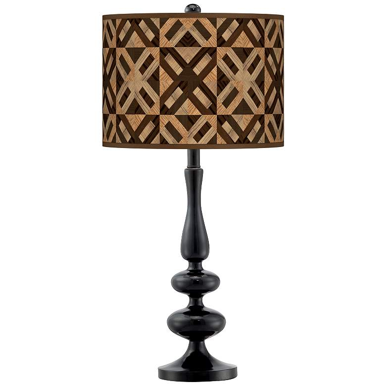 American Woodwork Giclee Paley Black Table Lamp