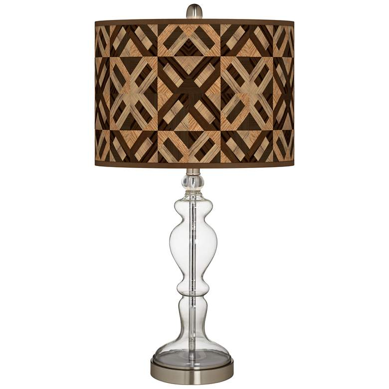 American Woodwork Giclee Apothecary Clear Glass Table Lamp