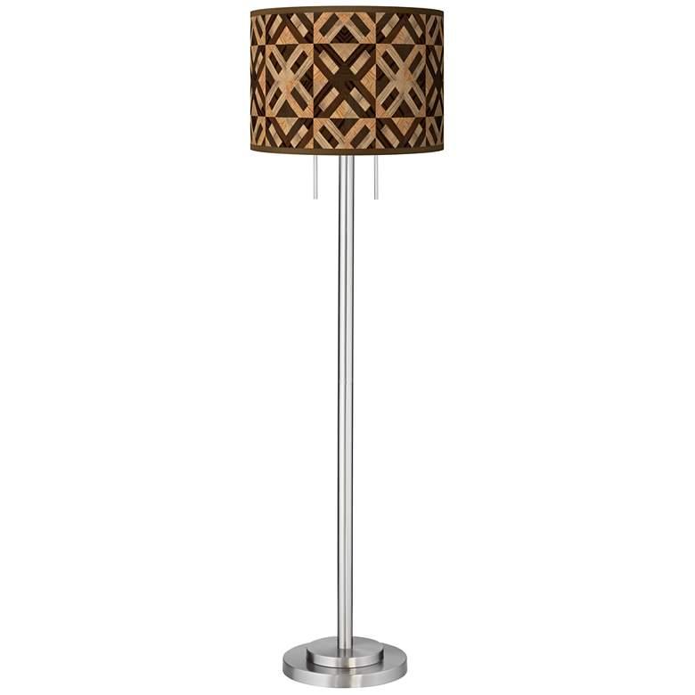 American Woodwork Giclee Brushed Nickel Garth Floor Lamp