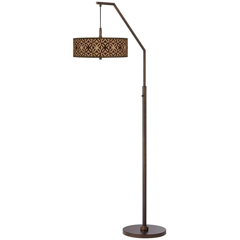 American Woodwork Bronze Downbridge Arc Floor Lamp