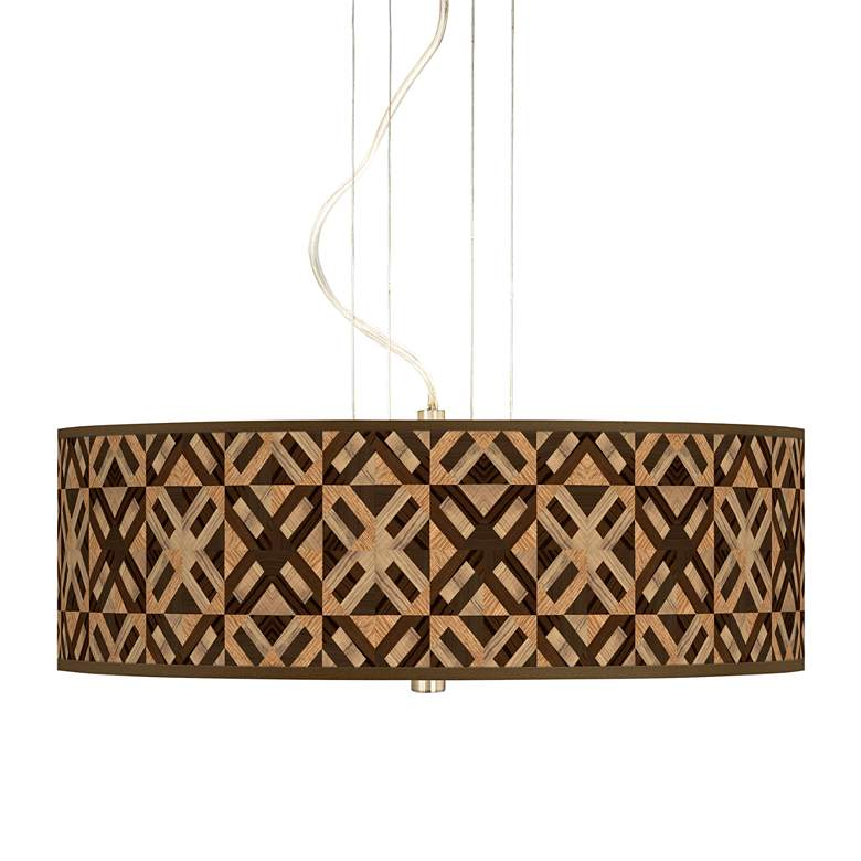 "American Woodwork 20"" Wide 3-Light Pendant Chandelier"