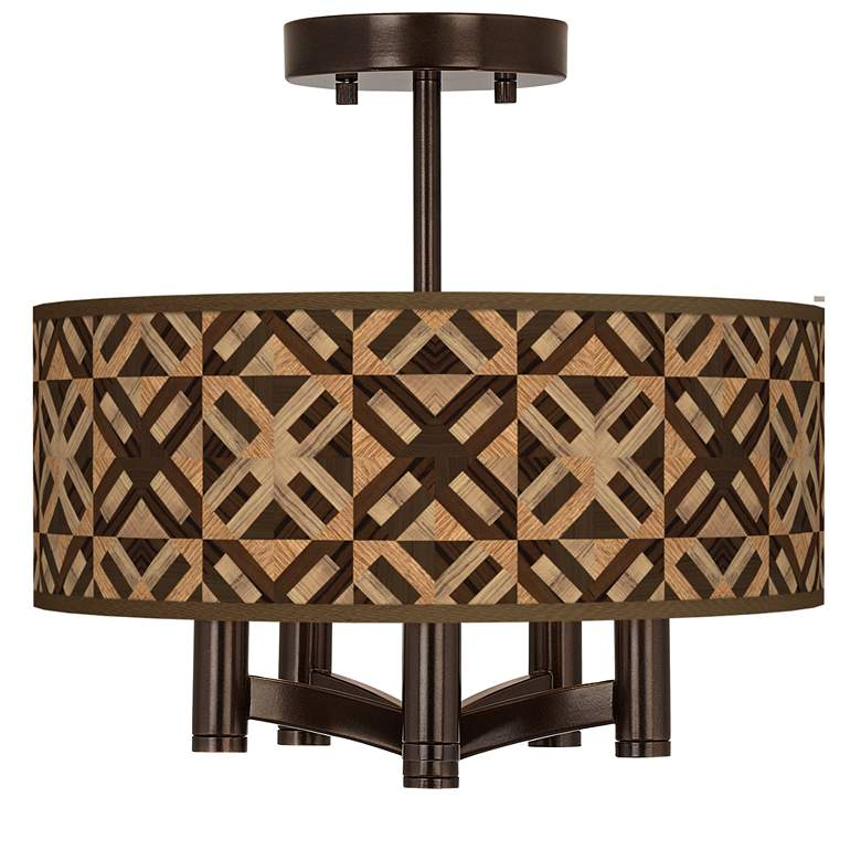 American Woodwork Ava 5-Light Bronze Ceiling Light