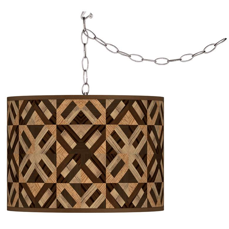American Woodwork Giclee Glow Plug-In Swag Pendant