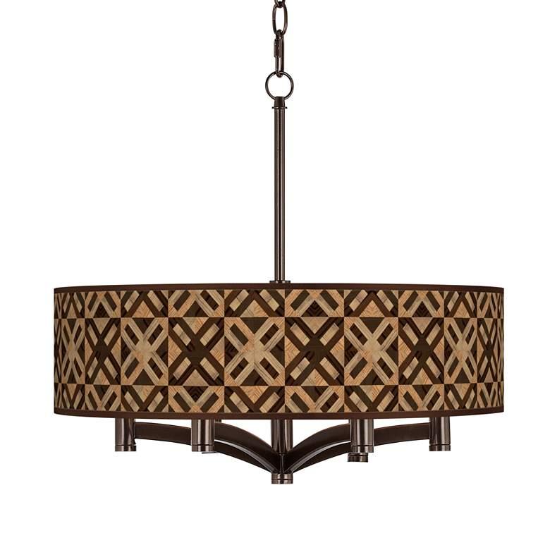 American Woodwork Ava 6-Light Bronze Pendant Chandelier