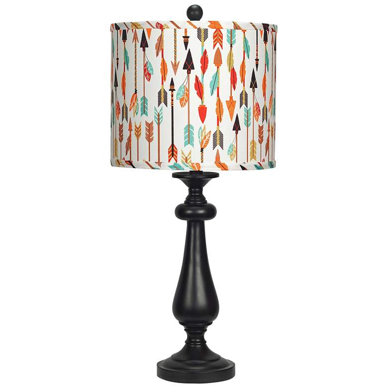 Lexington Black Quills and Arrows Shade Table Lamp