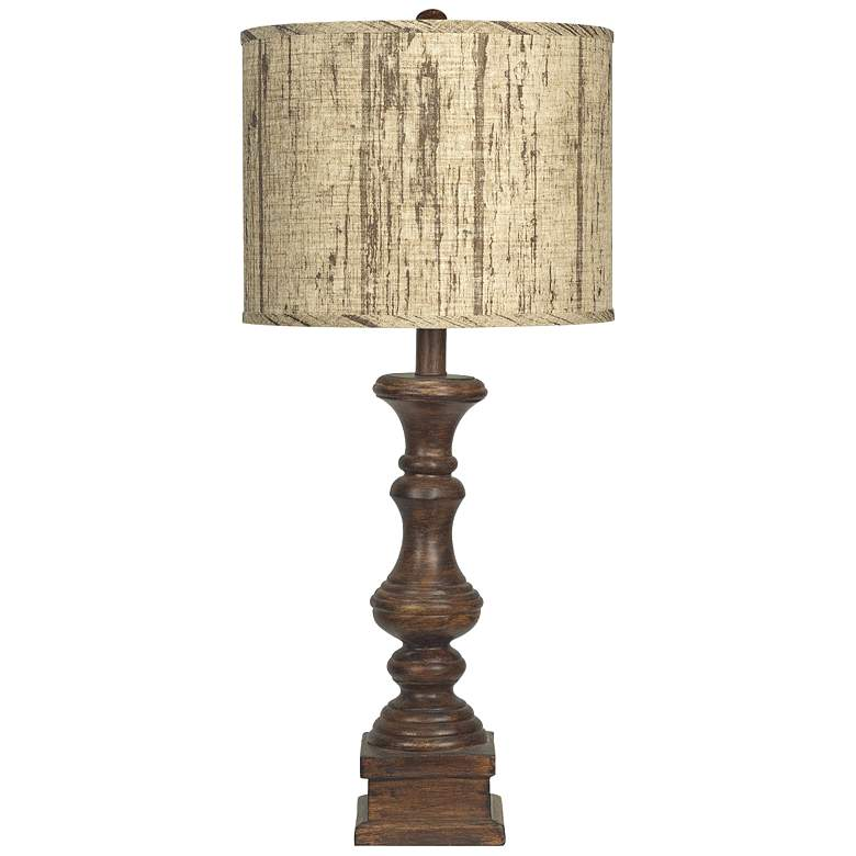 Austin Brown Planks Shade Table Lamp