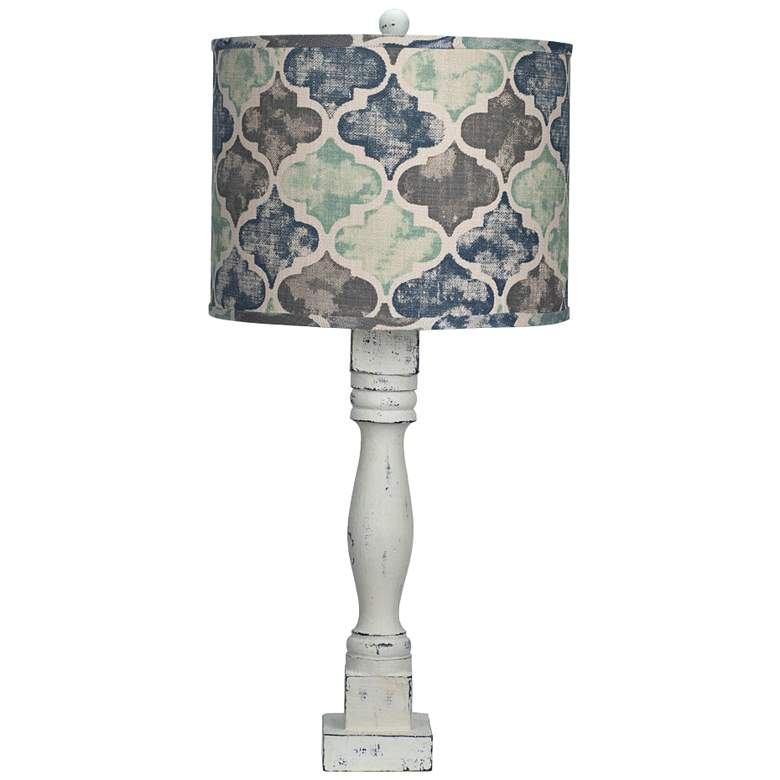 Gables White Moroccan Tile Shade Table Lamp