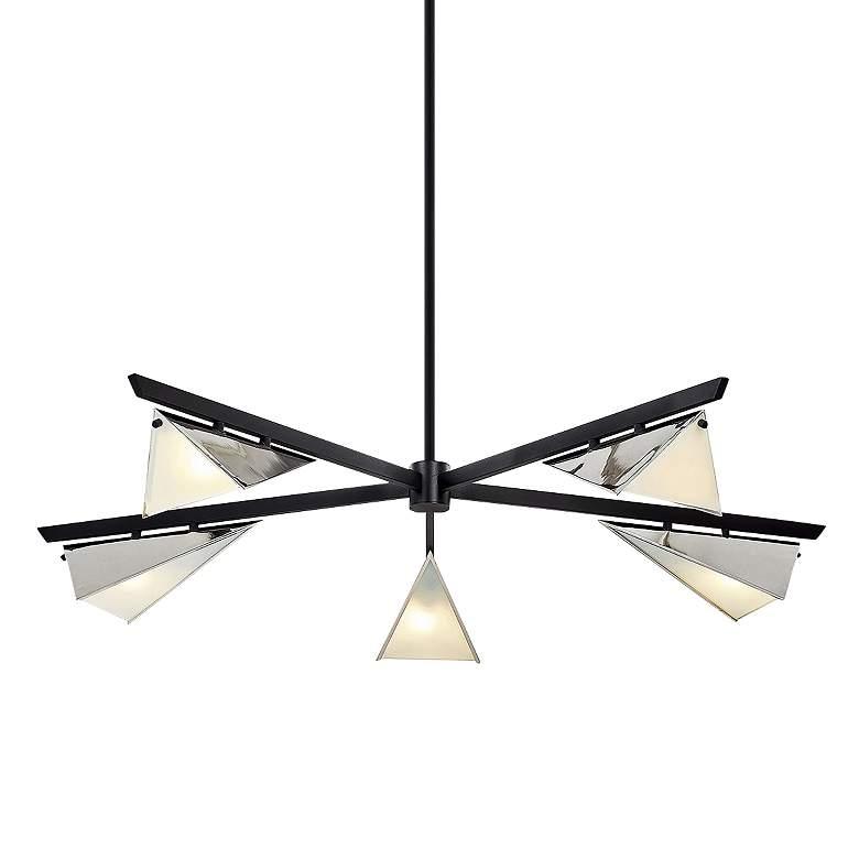 """Kite 49 1/2""""W Carbide Black and Nickel 5-Light Pendant Light"""