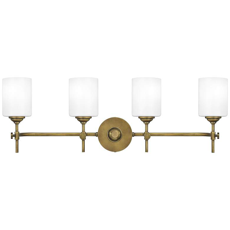 "Quoizel Aria 31 1/4"" Wide Weathered Brass 4-Light Bath Light"