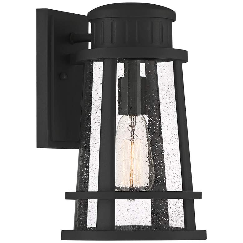 "Quoizel Dunham 13"" High Earth Black Outdoor Wall Light"