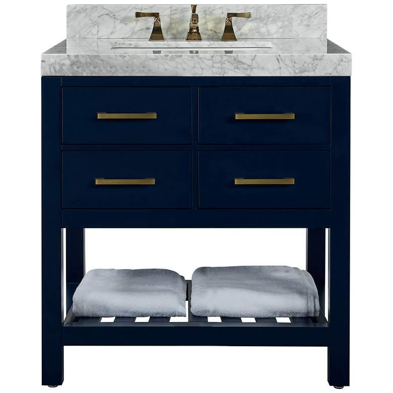 """Elizabeth 36"""" Wide Single Sink Blue Marble Vanity"""