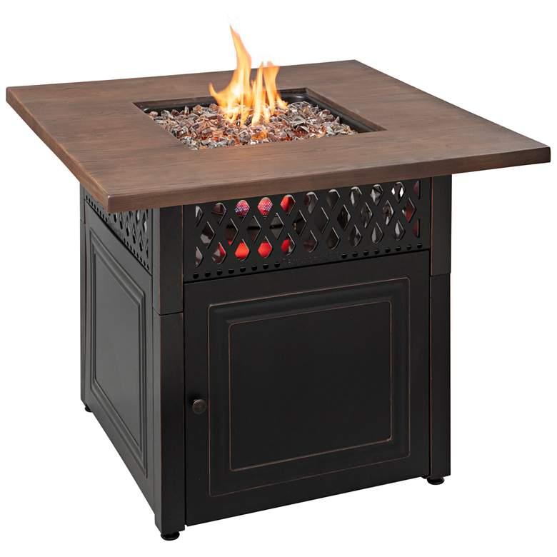 """Donovan 37 3/4"""" Wide DualHeat LP Gas Fire Pit Table"""