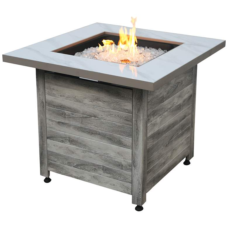"""Chesapeake 30"""" Wide LP Gas Fire Pit Table"""