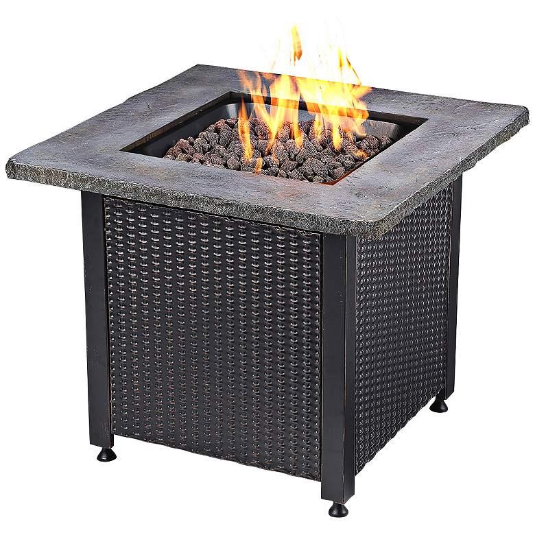 "Faux Stone Mantel 30"" Wide LP Gas Fire"