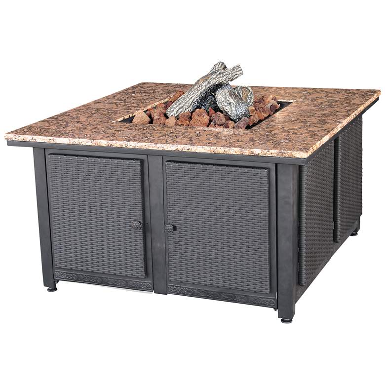"""Granite Top 41 1/2"""" Wide LP Gas Outdoor Fire Pit Table"""