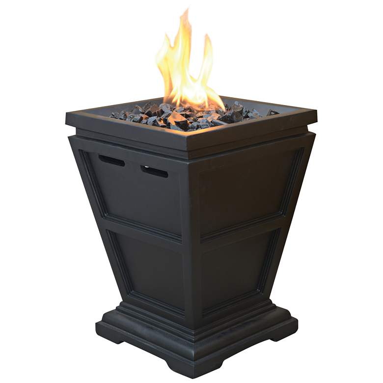 "Slate 15"" High Propane Gas Column Fire Pit"