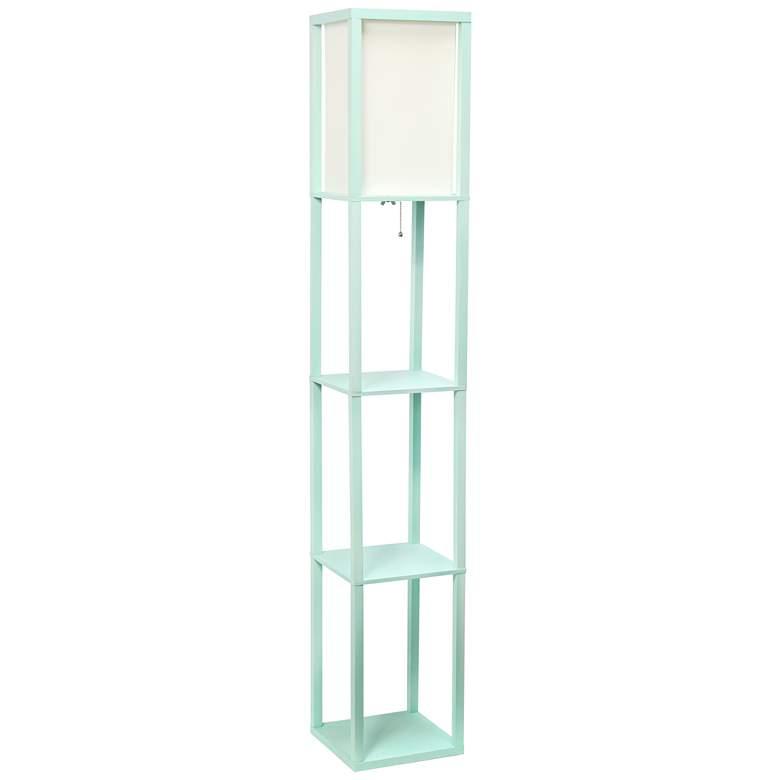 Simple Designs Aqua 3-Shelf Etagere Floor Lamp