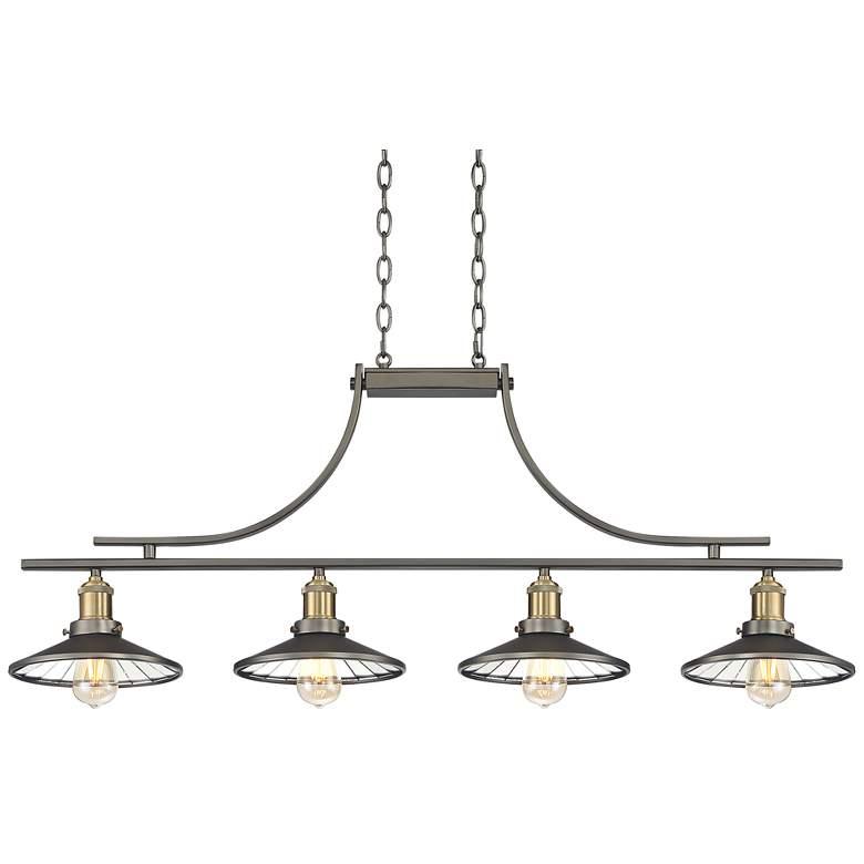 "Emile Urban Industrial 43 1/2""W 4-Light LED Island Pendant"