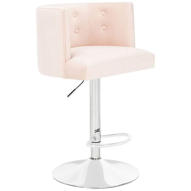 Zayna Light Pink Adjustable Barstool