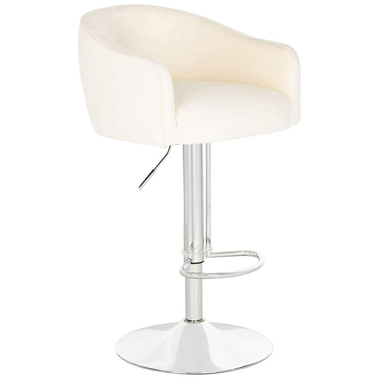 Ellsworth Creme Adjustable Barstool