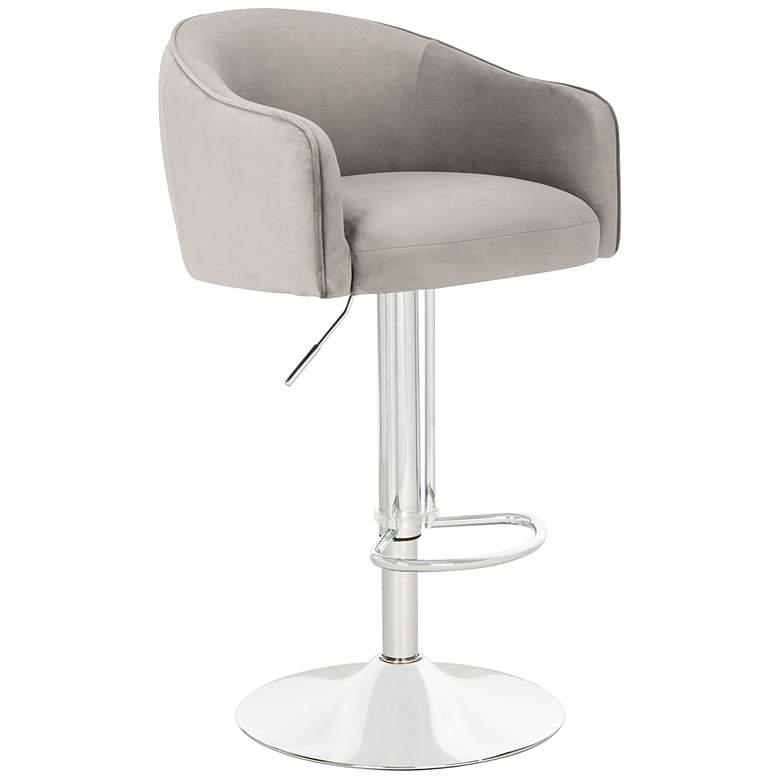 Ellsworth Light Gray Adjustable Barstool