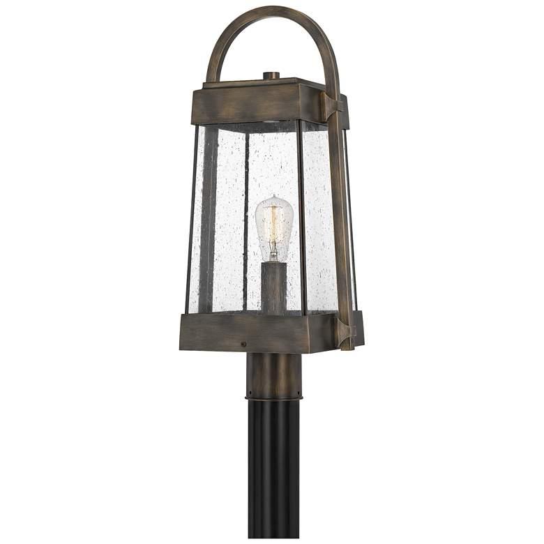 "Quoizel Ellington 23""H Statuary Bronze Outdoor Post Light"