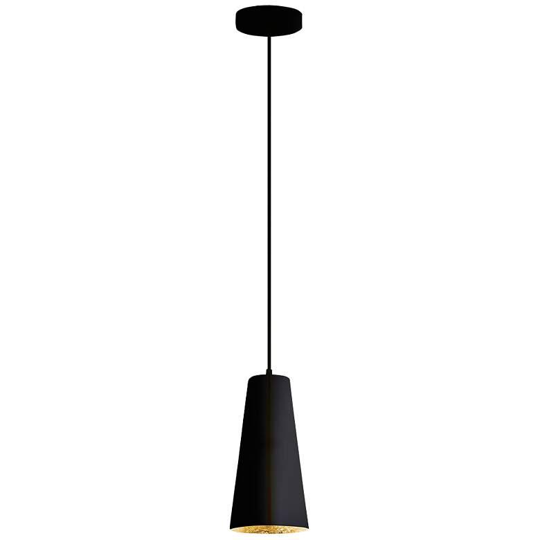 "Eglo Pratella 5"" Wide Structured Black Pendant Light"