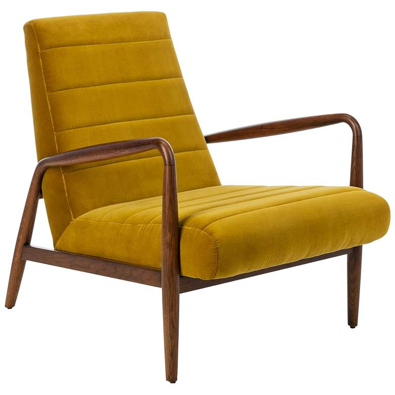 Willow Gold Channel Tufted Arm Chair