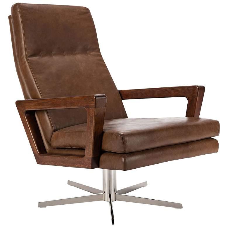 Damien Chocolate Swivel Arm Chair