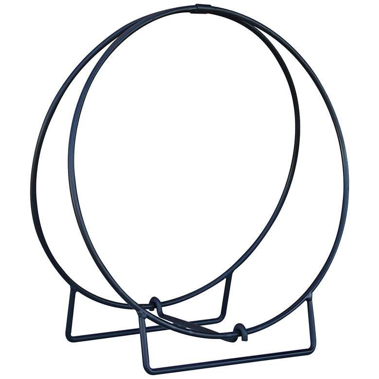 """UniFlame 24"""" Wide Black Outdoor Log Hoop"""