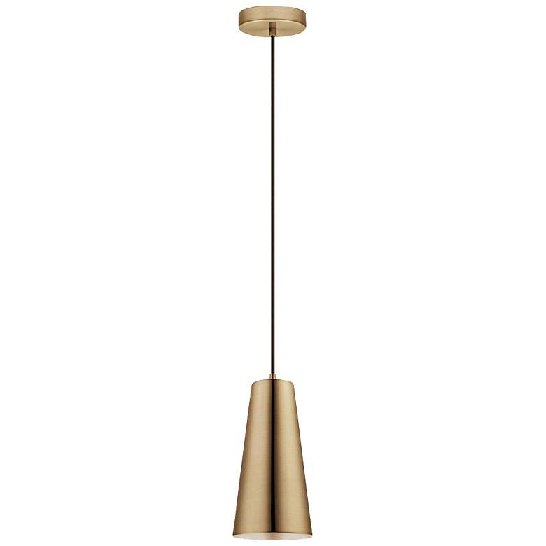 "Eglo Pratella 5"" Wide Brushed Gold Pendant Light"