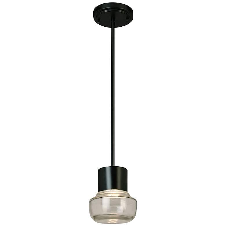 "Eglo Belby 5 1/2"" Wide Black LED Pendant Light"